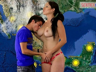 Slut Weather girl gets fucked by TV assistant