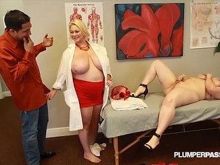 Busty doctor samantha fucks sexy nikky wilder and stud