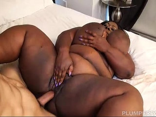 Exotic Ebony BBW Lovely Libra Fucks Fan