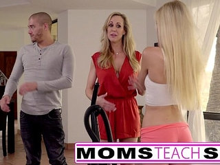 Moms Teach Sex Big tit mom catches daughter