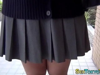 Japanese teen flashing