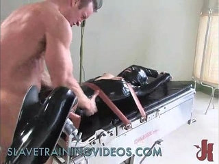 Tied up slave gets caned and whipped in brutal bondage