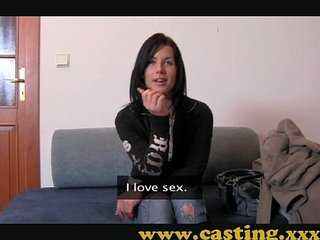 Casting Hard anal and massive facial for beautiful Teen