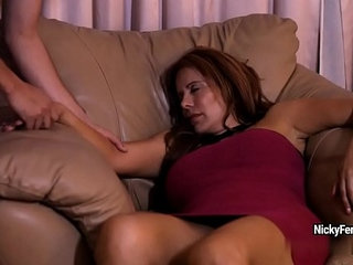 Juicy mature redhead is having a surprise while she sleeping