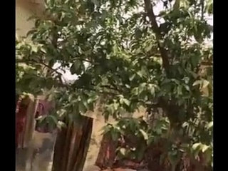 Desi Bhabhi Outdoor Shower Secretly Filmed By Neighbour