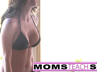 First time interracial fuck for teen and step mom