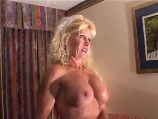 Busty Mature Blonde Bitch in Interracial Scene